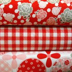 Polka Dot Stitches Fabric Combo 3 Yards From Lori Holt for Riley Blake Designs Save